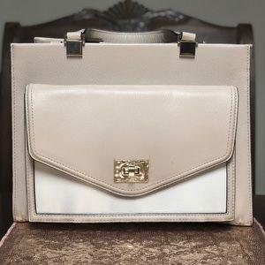 White and tan Kate Spade bag